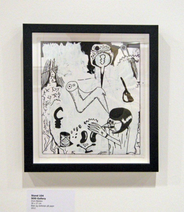 Også dette værk af Zven Balslev kunne købes for 2.500 kroner.