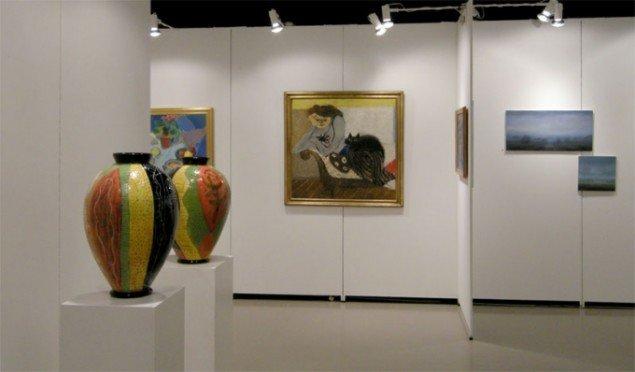 Bredgade Kunsthandel viste værker af blandt andet Lene Regius og bagerst Mogens Zieler
