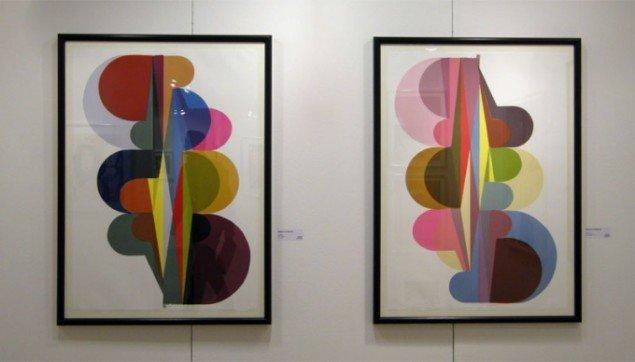 Galeri Moderne Silkeborg havde 2 stande. Blandt andet med grafik. Her Malene Landgren
