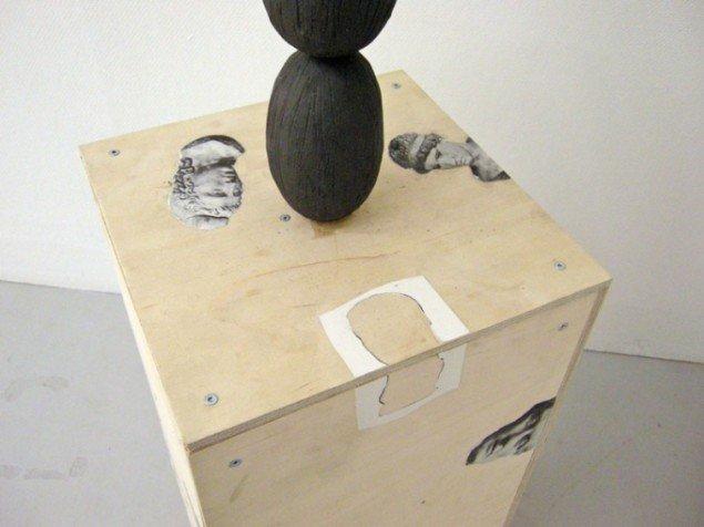 Detalje fra Anders Brinchs skulptur Ceramic coconut