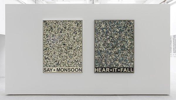 Say Monsoon - Hear It Fall, 2011 2 pieces of 160 x 120 cm each, Foto: Kristoffer Juel Poulsen.