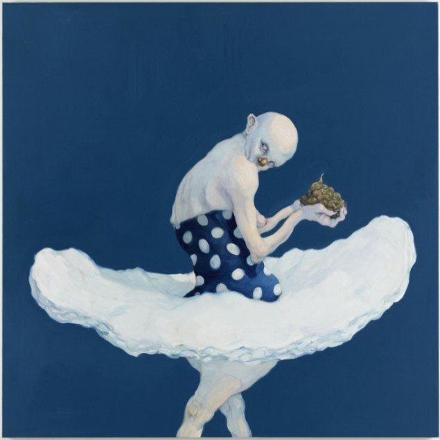 Michael Kvium:A Naked Eye on a Welldressed Lie III, 2012.