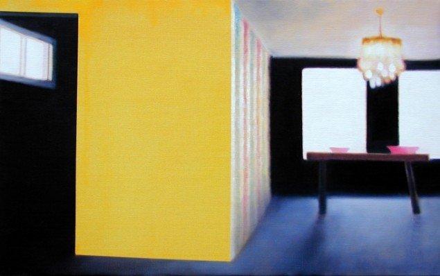 Uden titel, 2005. Olie på lærred, 50x75 cm. Foto: Anders Sune Berg