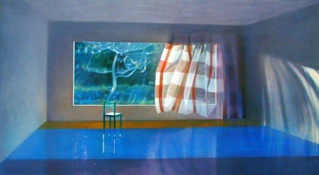 Uden titel, 2004. Olie på lærred, 100x180 cm. Foto: Anders Sune Berg