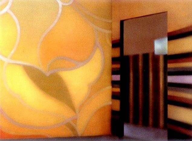 MODTAGELSESRUM, 2002. Olie på lærred, 180x245 cm. Foto: Bent Ryberg