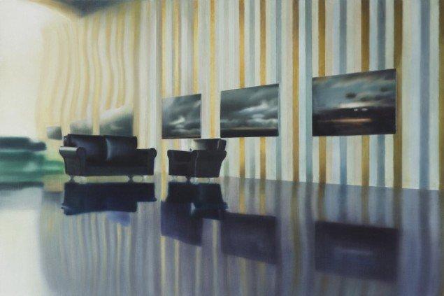 LOUNGE TABLEAUX, 2008. Olie på lærred, 80x120 cm. Foto: Anders Sune Berg