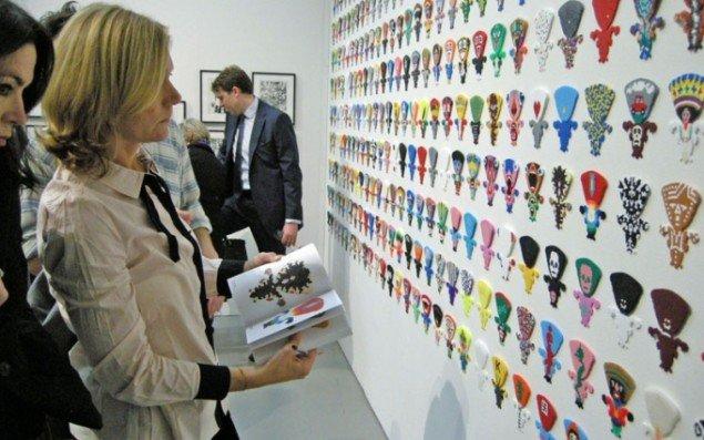 Perlepladeværker af Joakim Pirinen hos det stockholmske galleri Nordin Gallery.