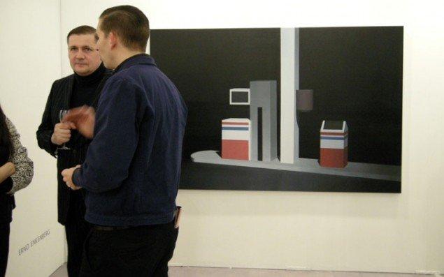 Maleri af tankstation af Erno Enkenberg hos finske Galleria Heino.