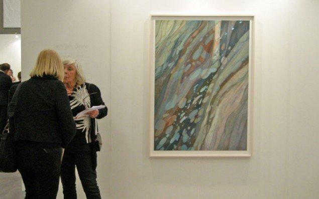 Christine Ödlund præsenterede flere store akvraller hos Galleri Riis.