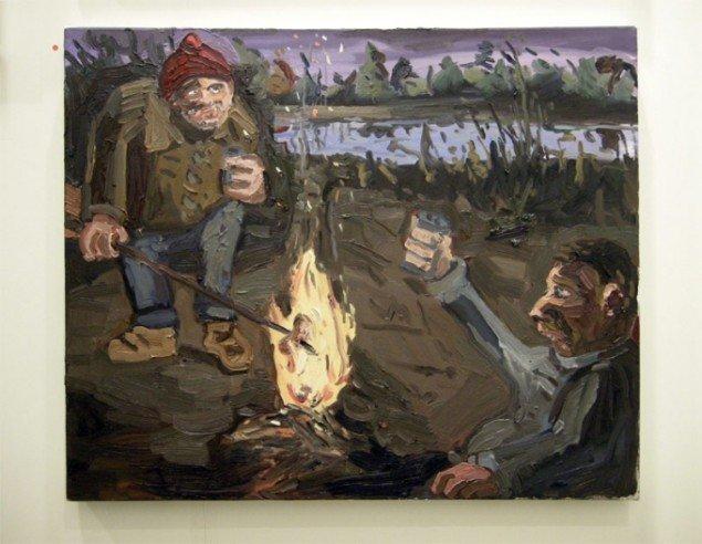 Gallerist Tom Christoffersen solgte godt allerede fra første dag. Her værk af den amerikanske kunstner Dan Schein.