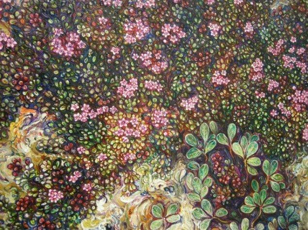Detalje fra maleri af Eggert Petursson.