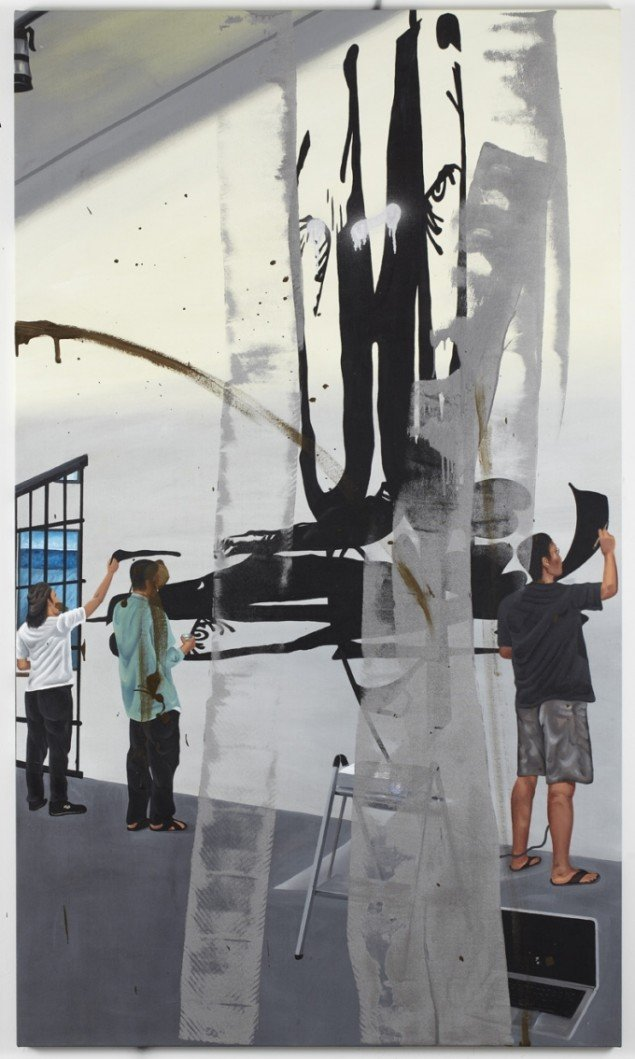 Claus Carstensen, Defaced Triptych (Manila) #2, 2011. Foto: Anders Sune Berg