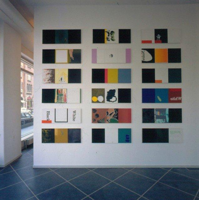 Udstillingsview fra udstillingen Black and White, 1995, Galleri Susanne Ottesen. Foto: Galleri Susanne Ottesen.
