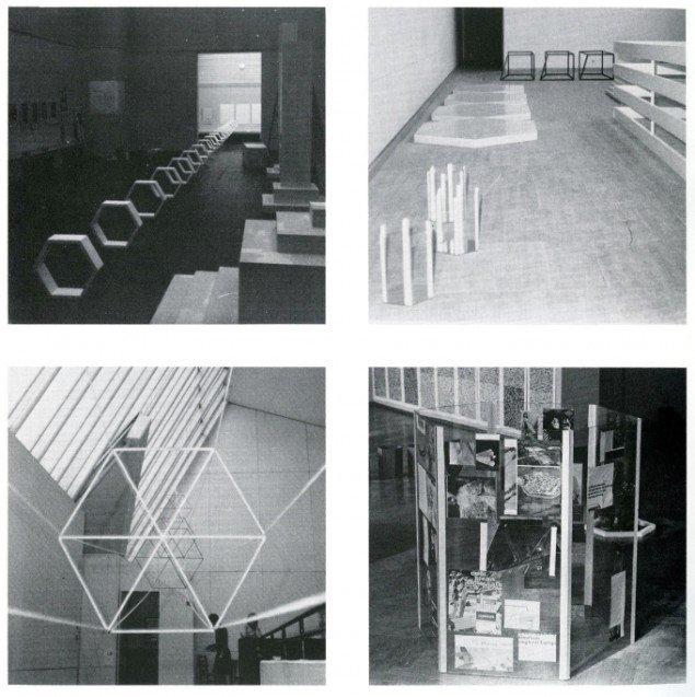 Stig Brøgger, Hexagonprojekter, 1967-68. Fra kataloget More Works, Sophienholm, 1987.
