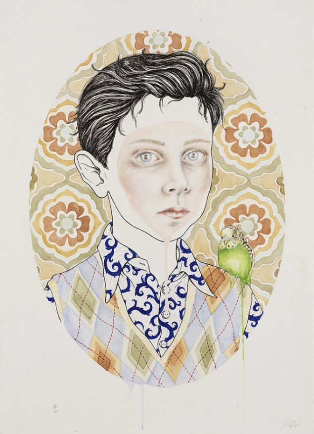 Dorian, 2012. Watercolor, felt-tip pen and pencil on paper, 70x50 cm, Courtesy V1 Gallery. Foto: Lea Nielsen