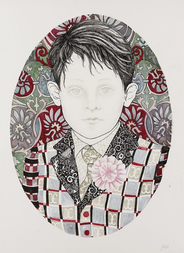 Niels, 2012. Watercolor, felt-tip pen and pencil on paper, 76x57 cm, Courtesy V1 Gallery. Foto: Søren Søndergaard