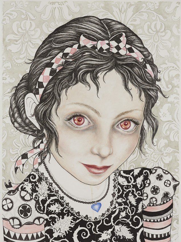 Nina, 2012. Watercolor, felt -tip pen and pencil on paper, 76x57 cm, Courtesy V1 Gallery. Foto: Søren Søndergaard