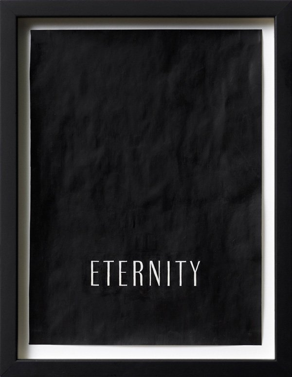 Untitled (eternity), Acrylic on magazine advertisement, 27 x 20 cm, framed, 2009. Foto: Henningsen gallery