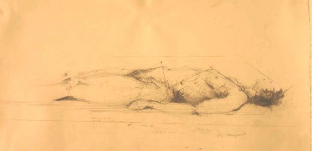 Sktise til Dissekere. Study anatomy, man, 1994-05.  Foto: Odense Bys Museer