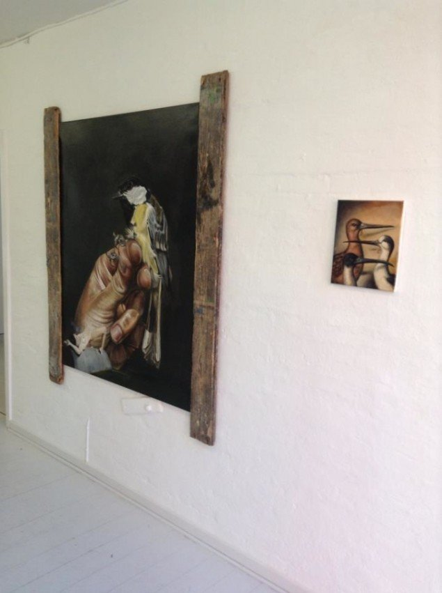 Udstillingsview fra Kill two Birds with one Stone. Foto: Charlotte Fogh Gallery