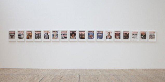 Untitled (Newsweek), 1994 Installation view. Malmö Konsthall 2013. (Foto: Helene Thoresdotter)