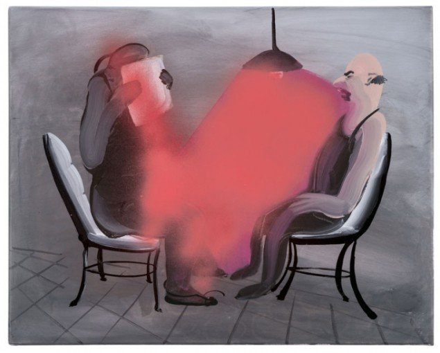 Tala Madani: Red Interrogation, 2012. © Courtesy of the artist and Pilar Corrias gallery, London. (Pressefoto)
