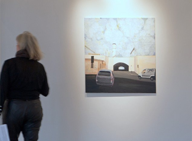 Anita Viola Nielsen: Roma Termini, olie og acryl på lærred, 100 x 114 cm. Foto: Jerry Jakobsfeld