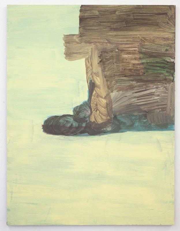 Uden titel, udstillingsview fra LANDSKABER - Ind i landskabet, bag ved væggen, under græsset, 2013. Foto: Erling Lykke Jeppesen