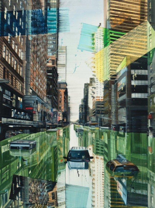 Green River New York, 120 x 90 cm, olie på lærred, 2009 foto: Kurt Nielsen