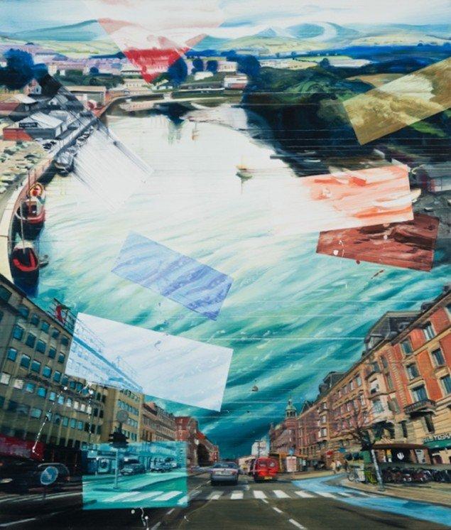 Rising Oceans, 140 x 120 cm, olie på lærred, 2009 foto: Kurt Nielsen
