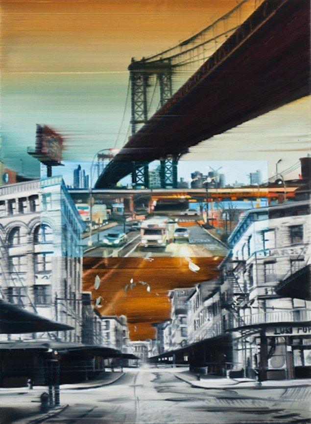The bridge, 95 x 70 cm, olie på lærred, 2010 foto: Kurt Nielsen