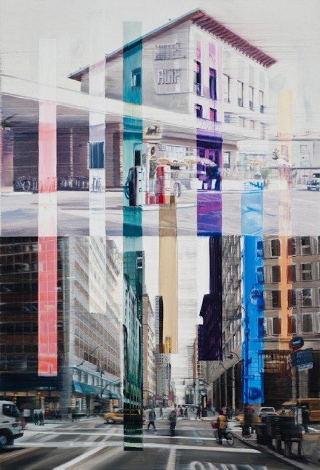 Connecting lines, 140 x 95 cm, olie på lærred, 2010 foto: Kurt Nielsen