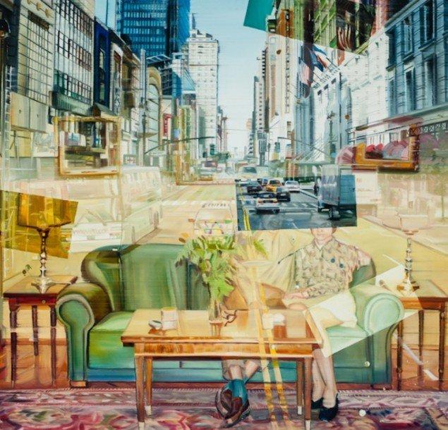 Dreamers, 125 x 130 cm, olie på lærred, 2012 foto: Kurt Nielsen