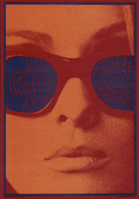 Victor Moscoso: Chambers Brothers, 1967. Museum für Gestaltung, Zürich)