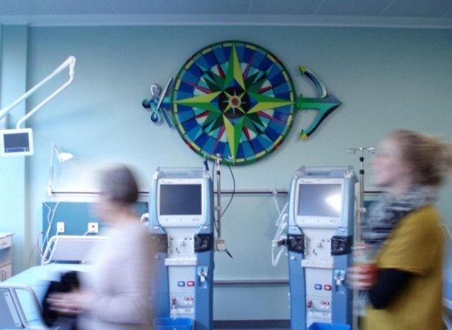 Ultra Grøns installation i dialysen. (Foto: Råderum)