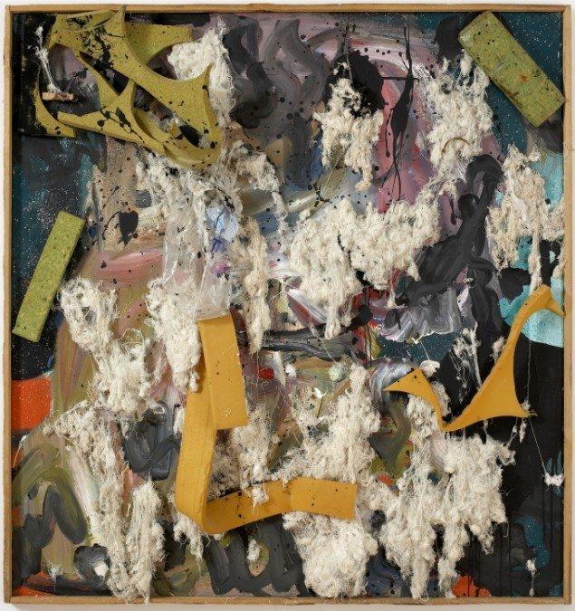 Benjamin, 1983-86, akryl, twist, skumgummi på lærred, 180 x 170 cm. Foto: Anders Sune Berg.