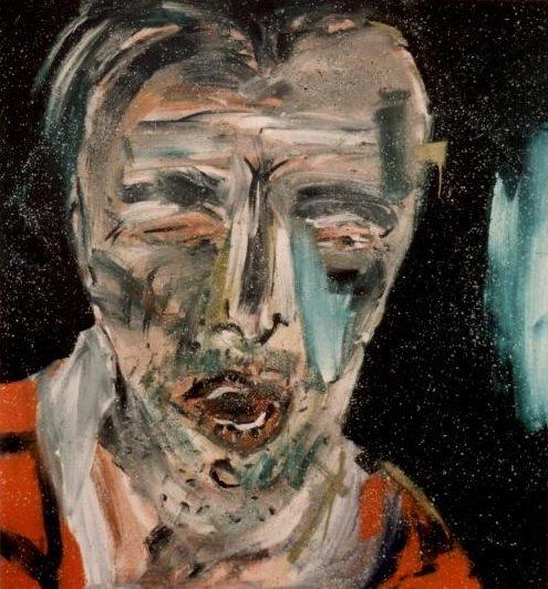 Alfred (fra serien Realismen i dag), 1983, akryl på lærred, 180 x 170 cm (overmalet i 1986 under titlen Benjamin). Foto: Claus Carstensen.