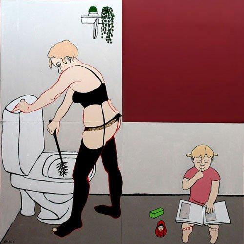 Erla Marita Askham: Kvinden med toilettet, 2007