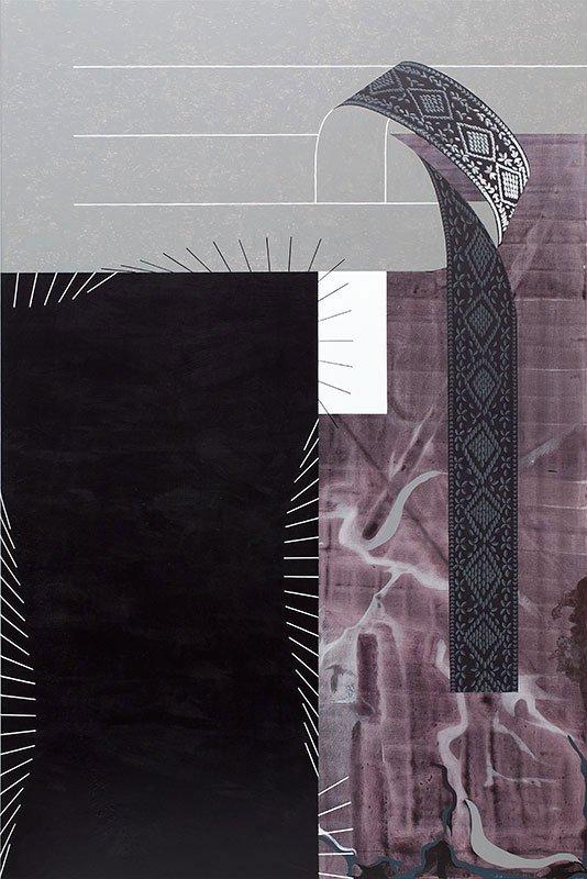 Origami, 2011. Akryl og blyant på lærred, 180 x 120 cm. Foto: Lisbeth Eugenie Christensen