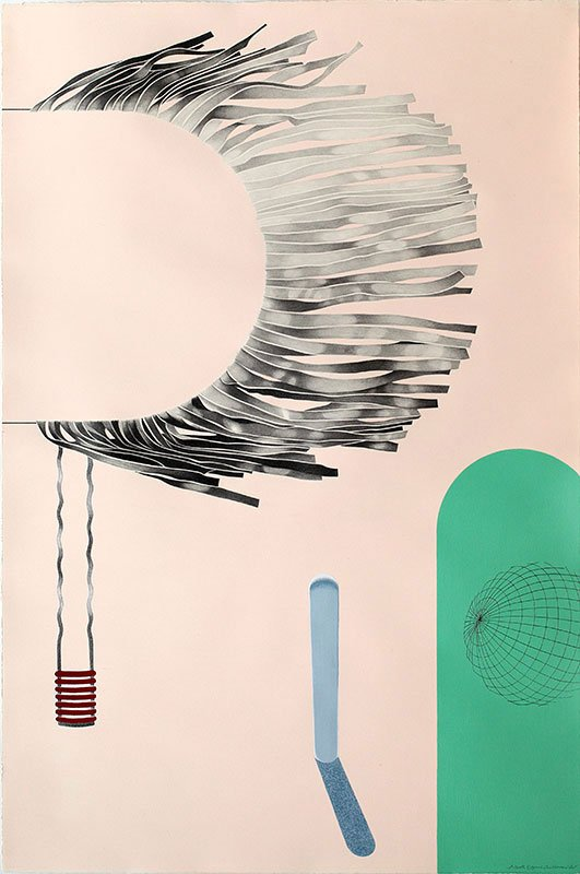 Solo, 2011. Blyant, akryl og tusch på papir, 120 x 80 cm. Foto: Lisbeth Eugenie Christensen