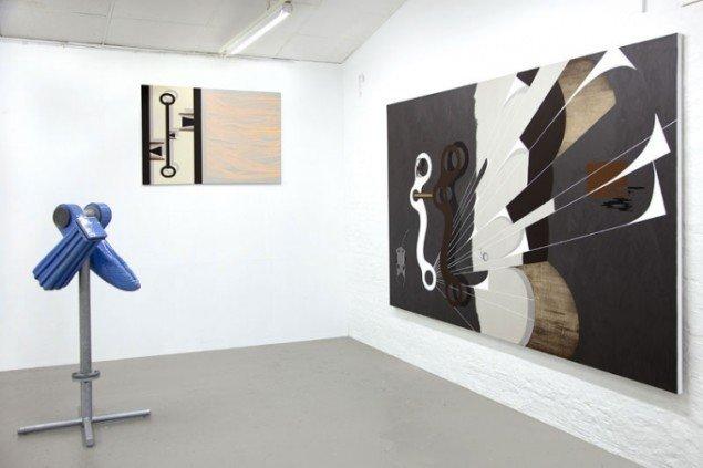 Udstillingsview/m. keramiker Per Ahlmann, Ringsted Galleriet 2012. Foto: Lisbeth Eugenie Christensen
