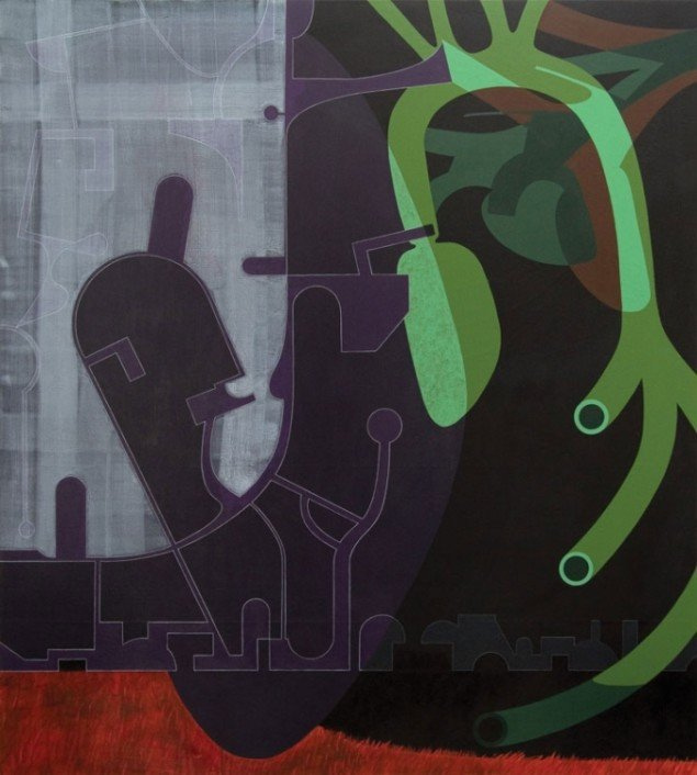 Urban, 2009. Akryl på lærred, 200 x 180 cm. Foto: Lisbeth Eugenie Christensen