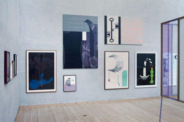 Udstillingsview/m. billedhugger Jørgen Carlo Larsen, Himmerlands Kunstmuseum 2012. Foto: Lisbeth Eugenie Christensen