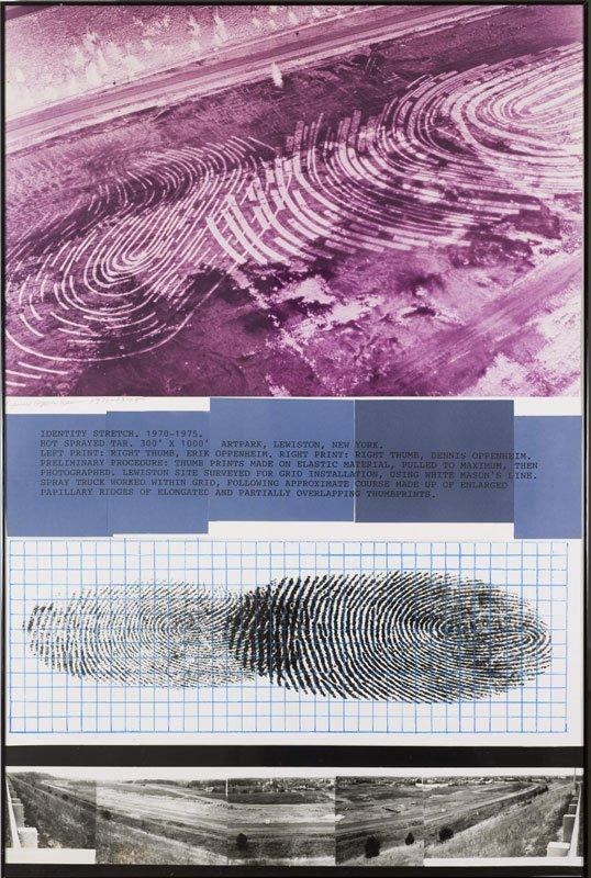 Dennis Oppenheim, Identity Strech, 1970-75.Foto: Anders Sune Berg.