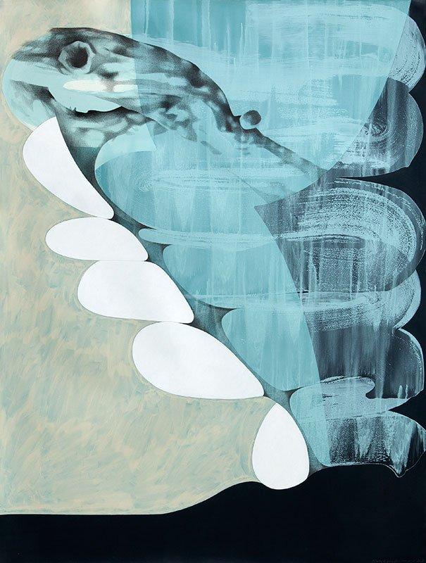Stub, 2013. Akryl og blyant på papir, 160 x 120 cm. Foto: Lisbeth Eugenie Christensen