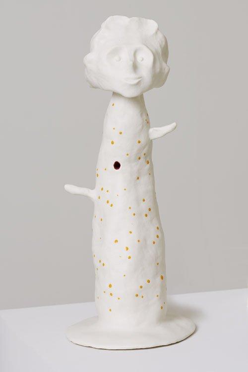 Kathrine Ærtebjerg: Uden titel, 2013. Porcelæn. Fra serien Symbolistiske skulpturer. Foto: Jan Søndergård
