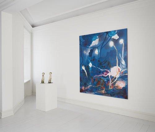 Udstillingsview. Kathrine Ærtebjerg: The Play på Galerie Mikael Andersen. Foto: Jan Søndergård