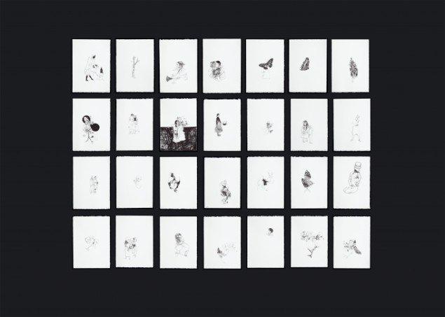 Cathrine Raben Davidsen: Trickster board, 28 litografier, oplag 18. Foto: Anders Sune Berg