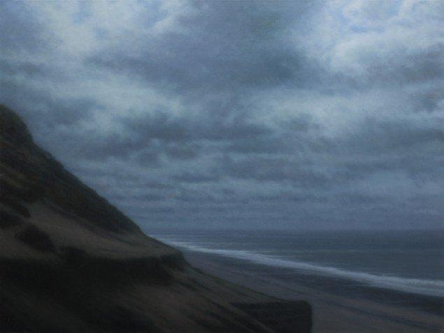Lodbjerg, 2011. Olie på lærred/Oil on canvas, 120X170 cm. Foto: Anders Sune Berg.