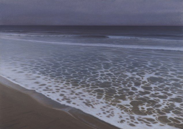Ved Stranden VI/At the Beach VI, 2001. Olie på lærred/Oil on canvas, 120x170 cm. Statens Kunstfond. Foto: Erik Bredal